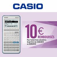 Offre de Remboursement Casio : 10€ Remboursés sur Calculatrice Graph 35+E II