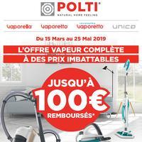 Offre de Remboursement Polti : Jusqu'à 100€ Remboursés