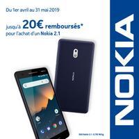 Offre de Remboursement Nokia : Jusqu'à 20€ Remboursés sur Smartphone 2.1