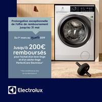 Offre de Remboursement Electrolux : Jusqu'à 200€ Remboursés sur Lave-Linge ou Sèche-Linge PerfectCare