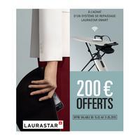 Offre de Remboursement Laurastar : 200€ Remboursés sur Centre de Repassage Smart