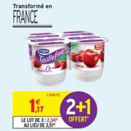 Yaourts Taillefine Danone chez Intermarché (24/04 – 05/05)