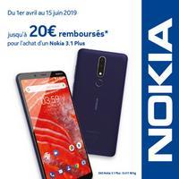 Offre de Remboursement Nokia : Jusqu'à 20€ Remboursés sur Smartphone 3.1 Plus
