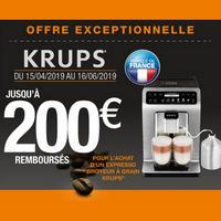Offre de Remboursement Krups : Jusqu'à 200€ Remboursés sur Broyeur à Grain