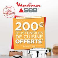 Bon Plan Moulinex / Seb : Jusqu'à 200€ d'Ustensiles de Cuisine Offerts
