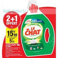 Lessive Le Chat Liquide chez Carrefour Market (23/04 – 05/05)