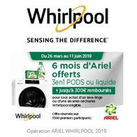 Offre de Remboursement Whirlpool : Jusqu'à 300€ Remboursés sur Lave-Linge ou Lavante-Séchante