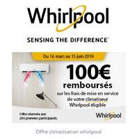 Offre de Remboursement Whirlpool : 100€ Remboursés sur Frais de mise en  service de votre Climatiseur