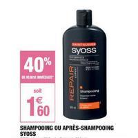 Shampooing ou Après-Shampooing Syoss chez Carrefour Market (03/05 – 26/05)
