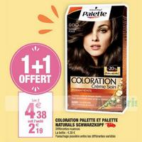 Coloration Palette de Schwarzkopf chez Carrefour Market (03/05 – 26/05)