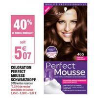 Coloration Perfect Mousse Schwarzkopf chez Carrefour Market (03/05 – 26/05)