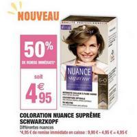 Coloration Nuance Suprême Schwarzkopf chez Carrefour Market (03/05 – 26/05)