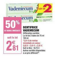 Dentifrice Vademecum chez Carrefour Market (03/05 – 26/05)