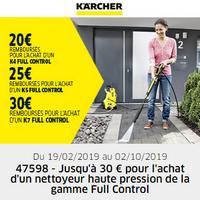 Offre de Remboursement Kärcher : Jusqu'à 30€ Remboursés sur Nettoyeur Full Control