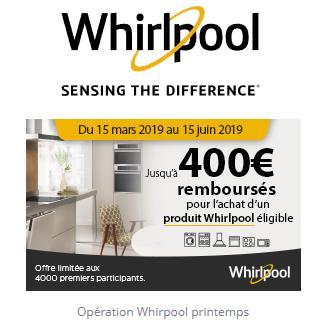 Offre de Remboursement Whirlpool : Jusqu'à 400€ Remboursés