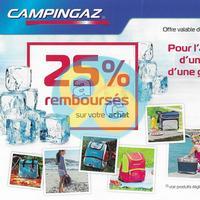 Offre de Remboursement Campingaz : 25% Remboursés sur Glacière Souple + Freez'Pack