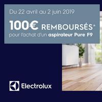 Offre de Remboursement Electrolux : 100€ Remboursés sur Aspirateur Balai sans fil Multifonction Pure F9