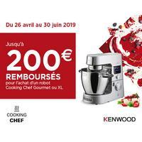 Offre de Remboursement Kenwood : Jusqu'à 200€ Remboursés sur Robot Cooking Chef Gourmet ou XL
