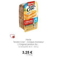 Tendre Croc' L'Original x4 Herta chez Intemarché