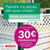 Offre de Remboursement Bosch : Jusqu'à 30€ Remboursés sur Pistolet à Peinture