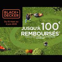 Offre de Remboursement Black + Decker : Jusqu'à 100€ Remboursés sur Tondeuse ou Coupe-bordures