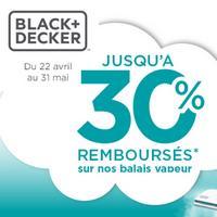 Offre de Remboursement Black + Decker : 30% Remboursés sur Balai Vapeur