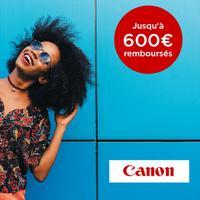 Offre de Remboursement Canon : Jusqu'à 600€ Remboursés sur une Sélection de Produits