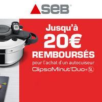 Offre de Remboursement Seb : Jusqu'à 20€ Remboursés sur Clipso Minut Duo Gourmet