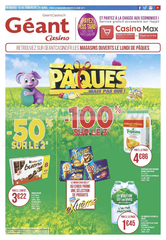Catalogue Géant Casino du 16 au 28 avril 2019