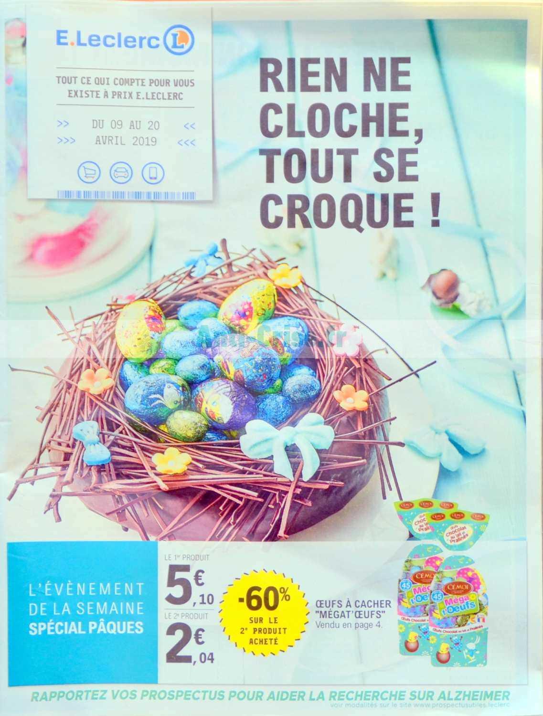 Catalogue Leclerc du 09 au 20 avril 2019 (Nord)