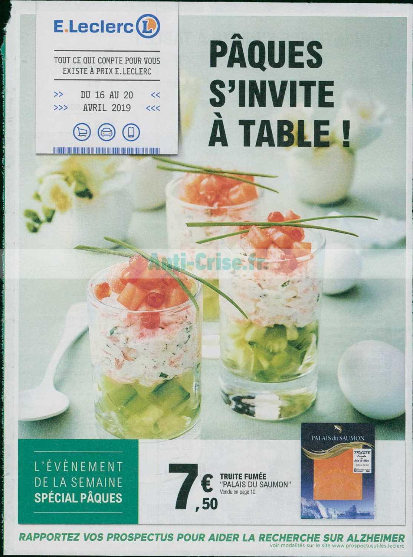 Catalogue Leclerc du 16 au 20 avril 2019