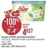 Lessive Le Chat Duo-Bulles chez Géant Casino (23/04 – 05/05)