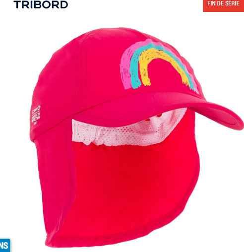 2,5€ la casquette anti uv pour bébé Decathlon