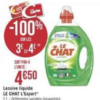 Lessive Le Chat Liquide chez Géant Casino (23/04 – 05/05)