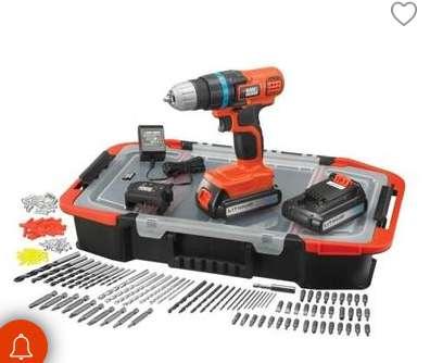 Moins de 70€ la perceuse Black et Decker 18V + 2 batteries + 160 accessoires
