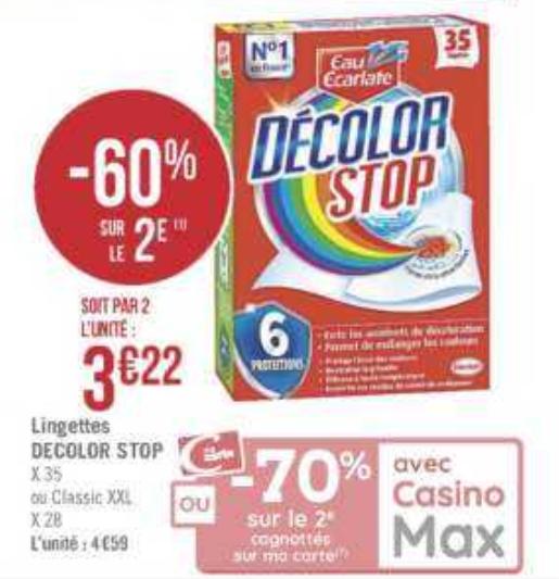 Lingettes Decolor Stop chez Géant Casino (09/04 – 22/04)