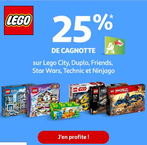 Bon plan Lego : 25% sur la carte Waaoh chez Auchan