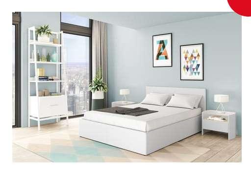 195€ le lit coffre Willow 140 x 190 cm