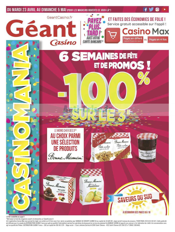 Catalogue Géant Casino du 23 avril au 05 mai 2019