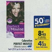 Coloration Perfect Mousse de Schwarzkopf chez Carrefour (16/04 – 22/04)