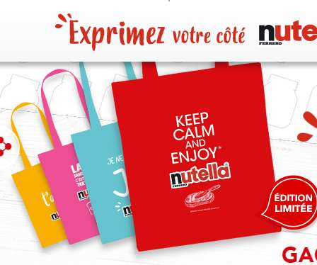 Un sac collector Nutella Gratuit