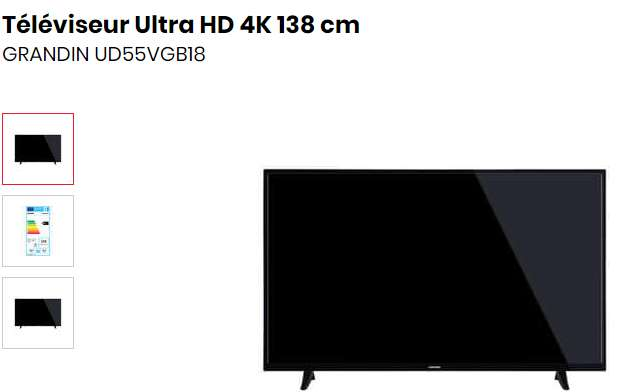 299€ la Tv Grandin 55 pouces 4k UD55VGB18