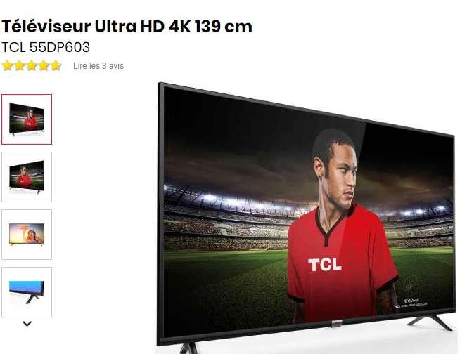 399€ la tv TCL 55 pouces 4K