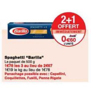 Pâtes Barilla chez Monoprix (08/05 – 20/05)
