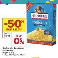 Semoule à Couscous Ferrero chez Casino (14/05 – 26/05)