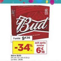 Pack de Bière x12 Bud chez Casino (14/05 – 26/05)