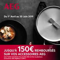 Offre de Remboursement AEG : Jusqu'à 150€ Remboursés sur vos Accessoires
