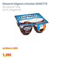 Danette Liégeois chez Carrefour (14/05 – 27/05)