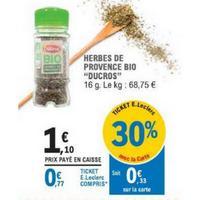 Herbes de Provence Bio Ducros chez Leclerc (14/05 – 25/05)