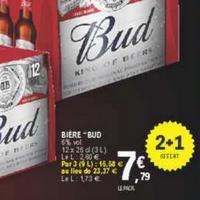 Pack de Bière Bud 12x25cl chez Leclerc (14/05 – 25/05)